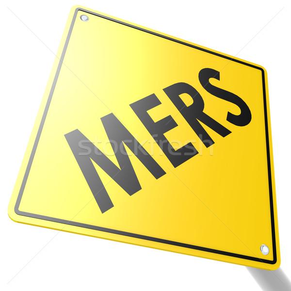 MERS road sign Stock photo © tang90246