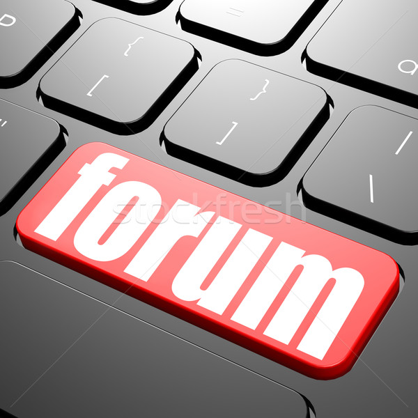 Clavier forum texte image rendu Photo stock © tang90246