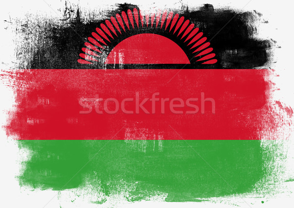 Flag of Malawi painted with brush Stock photo © tang90246