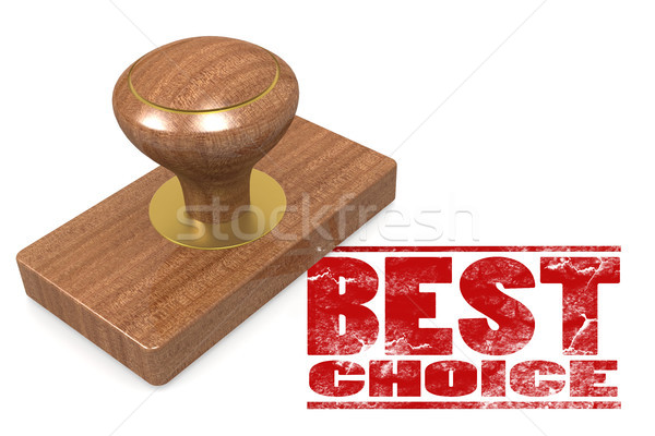Best choice wooded seal stamp Stock photo © tang90246