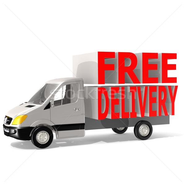 Ingyenes szállítás furgon forgalom házhozszállítás motor autó Stock fotó © tang90246