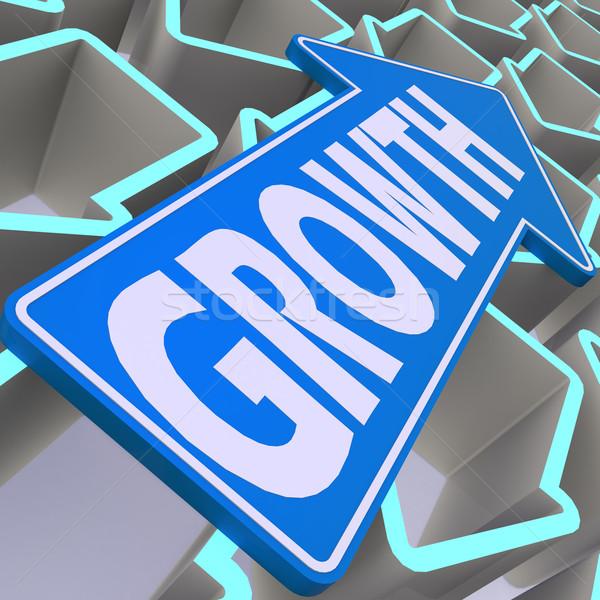 Growth blue arrow Stock photo © tang90246