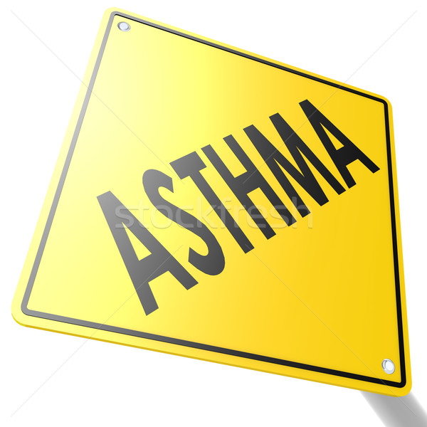 Road sign with asthma Stock photo © tang90246