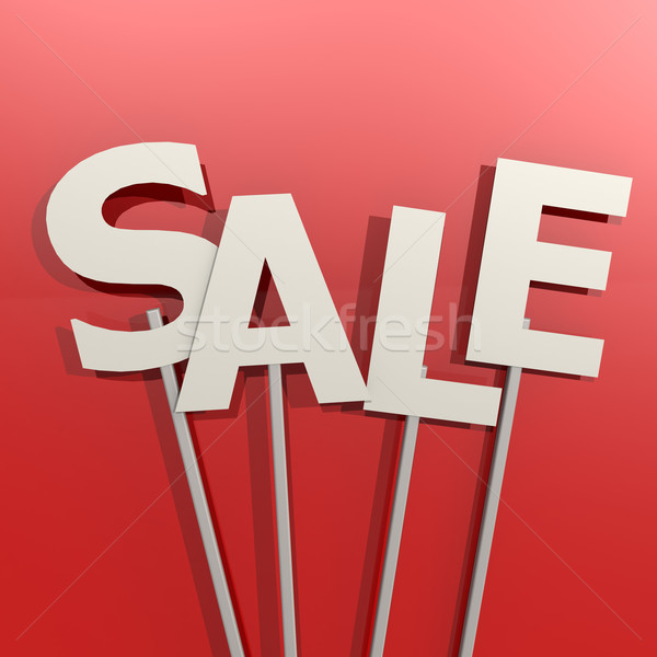 Sale word on red background Stock photo © tang90246