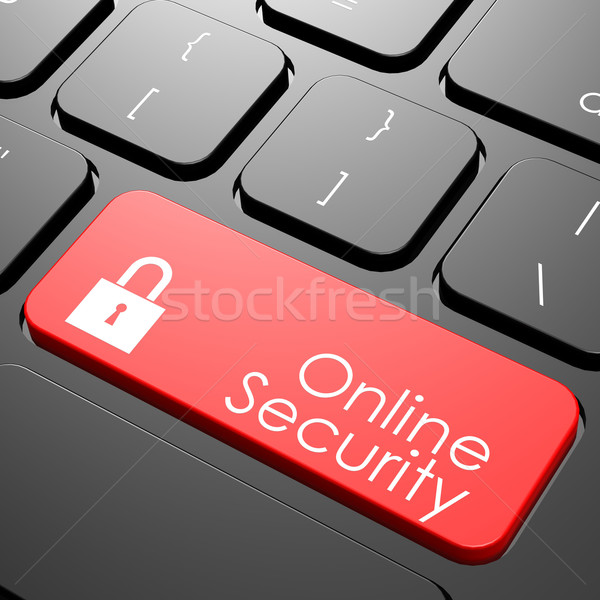 Online security keyboard Stock photo © tang90246