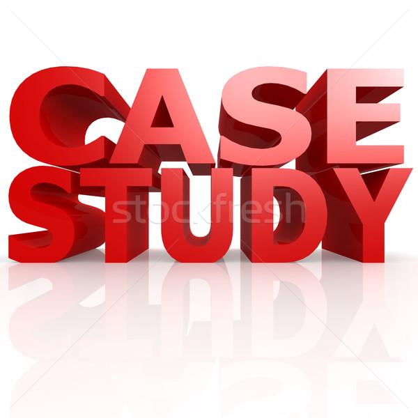 Caso estudar palavra negócio treinamento sucesso Foto stock © tang90246