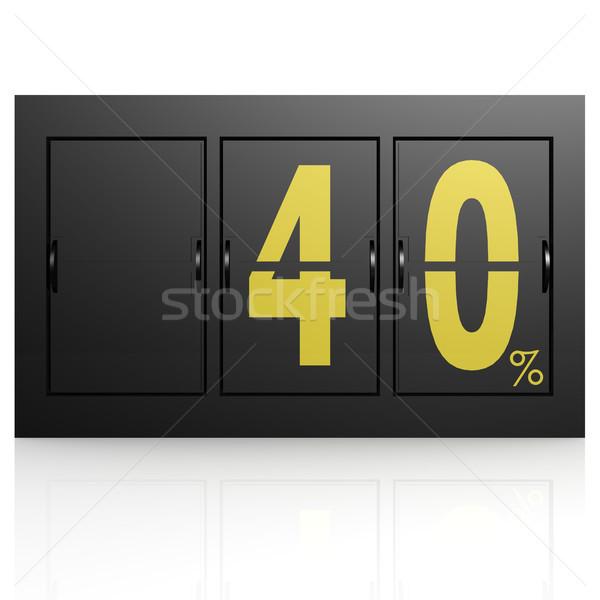 Airport display board 40 percent Stock photo © tang90246
