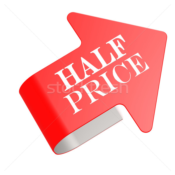 Half price twist label Stock photo © tang90246