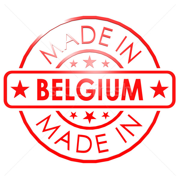 Belçika kırmızı mühürlemek iş kâğıt dizayn Stok fotoğraf © tang90246