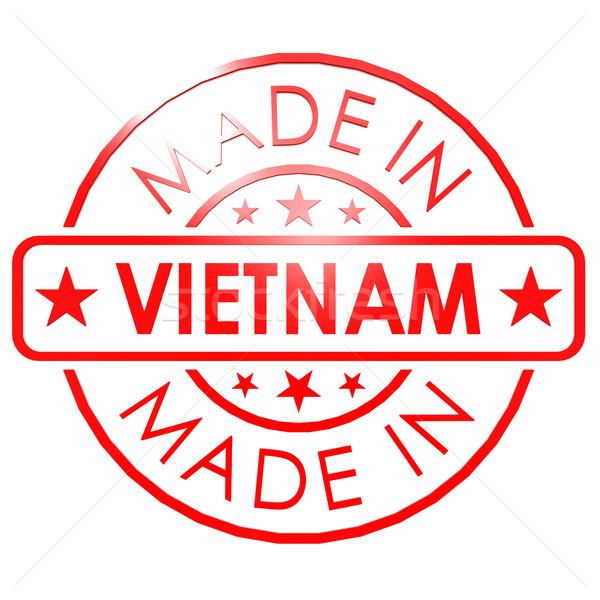 Vietnam rojo sello negocios papel diseno Foto stock © tang90246