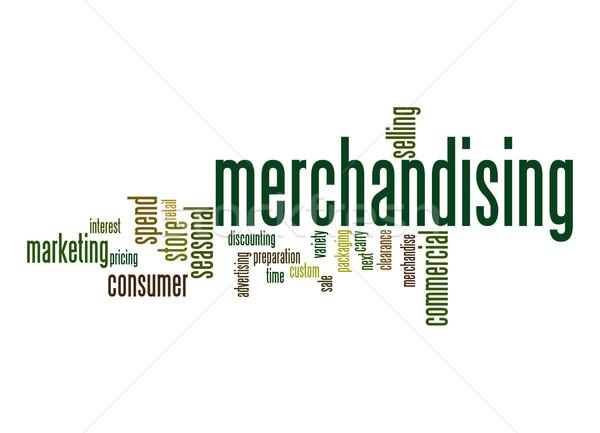 Merchandising word cloud Stock photo © tang90246