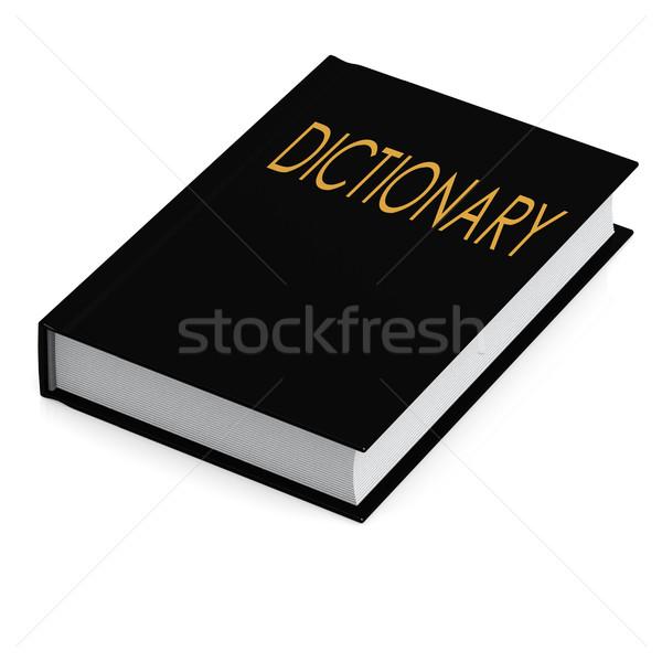 Fekete szótár terv háttér oktatás űr Stock fotó © tang90246