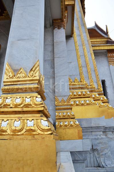 Dourado pagode palácio Bangkok Tailândia viajar Foto stock © tang90246