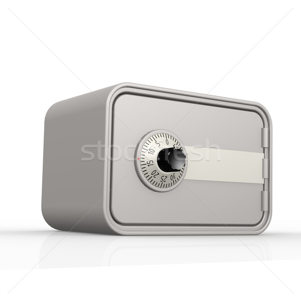 Gray safe box with white background Stock photo © tang90246