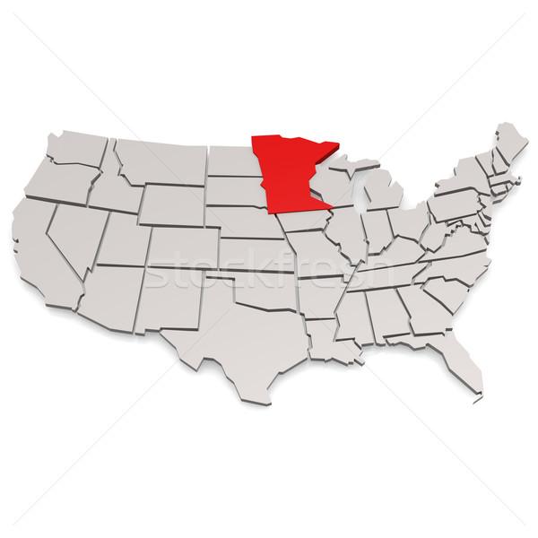 Minnesota kép renderelt mű használt grafikai tervezés Stock fotó © tang90246