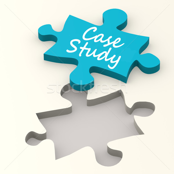 Case Study on puzzle Stock photo © tang90246