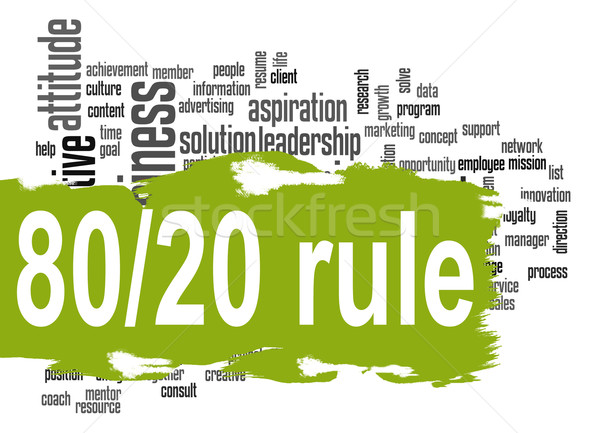 Governare 80 20 word cloud verde banner Foto d'archivio © tang90246