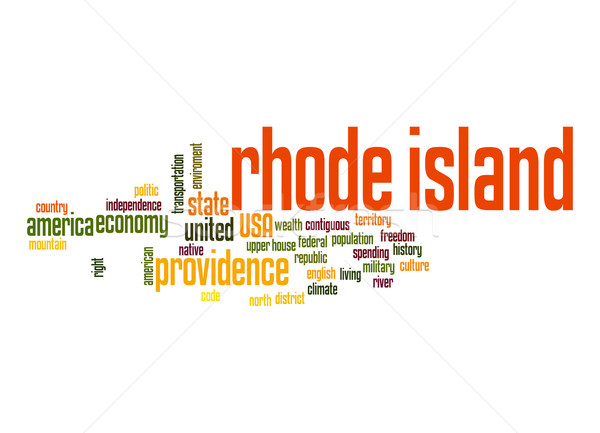 Rhode Island word cloud Stock photo © tang90246