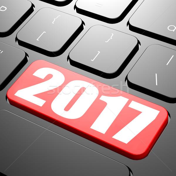 Keyboard on year 2017 Stock photo © tang90246