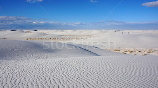 White Sand Dunes on Sunny Day Stock photo © tang90246