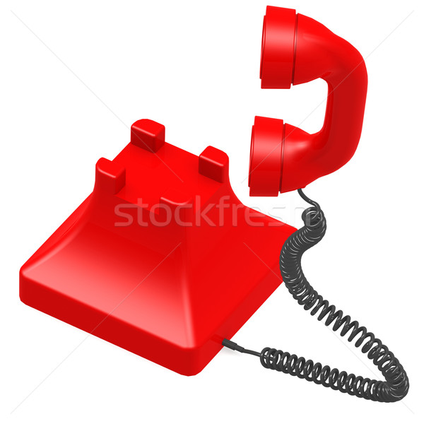 Red dial phone Stock photo © tang90246