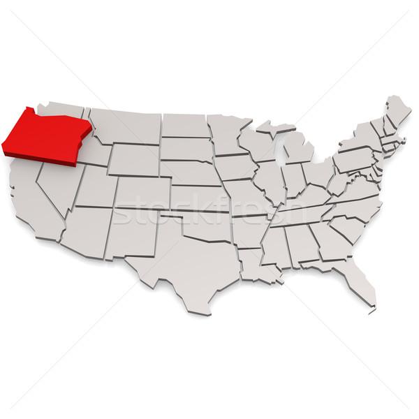 Орегон карта путешествия белый США границе Сток-фото © tang90246