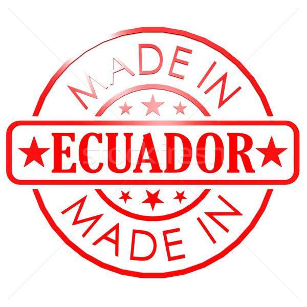 エクアドル 赤 シール 画像 レンダリング ストックフォト © tang90246