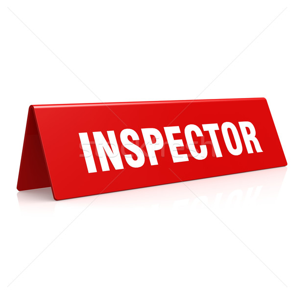 Inspector banner Stock photo © tang90246