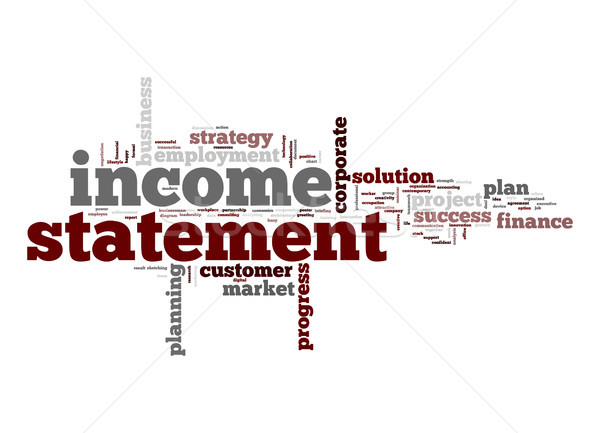 Income statement word cloud Stock photo © tang90246
