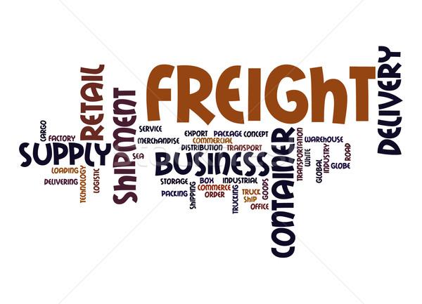 Freight word cloud Stock photo © tang90246