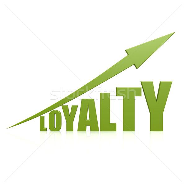 Lealtad verde flecha negocios trabajo fondo Foto stock © tang90246