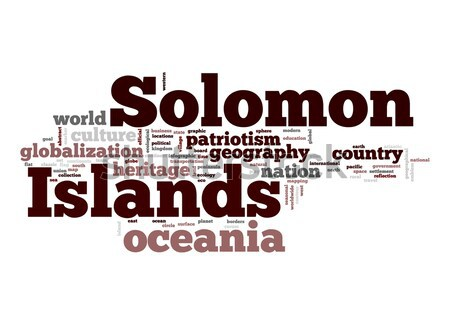 Isole Salomone word cloud business mondo nube pianeta Foto d'archivio © tang90246