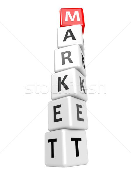 Buzzword market Stock photo © tang90246