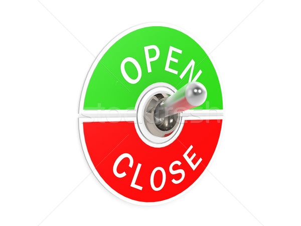 Open close toggle switch Stock photo © tang90246
