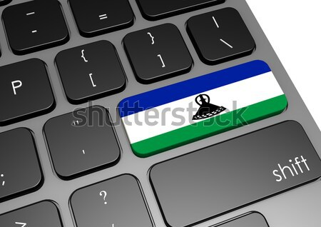 Tablet with Sierra Leone flag Stock photo © tang90246