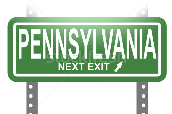 Pennsylvania green sign board isolated Stock photo © tang90246