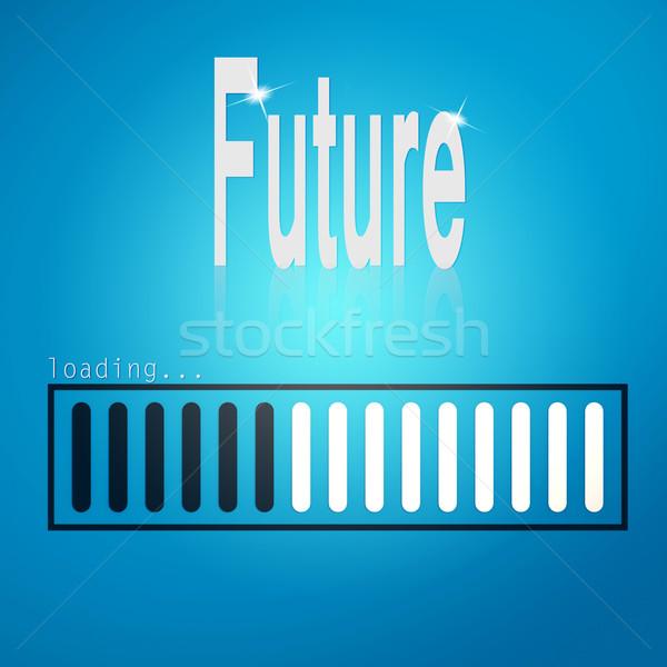 Сток-фото: будущем · синий · Бар · изображение · оказанный