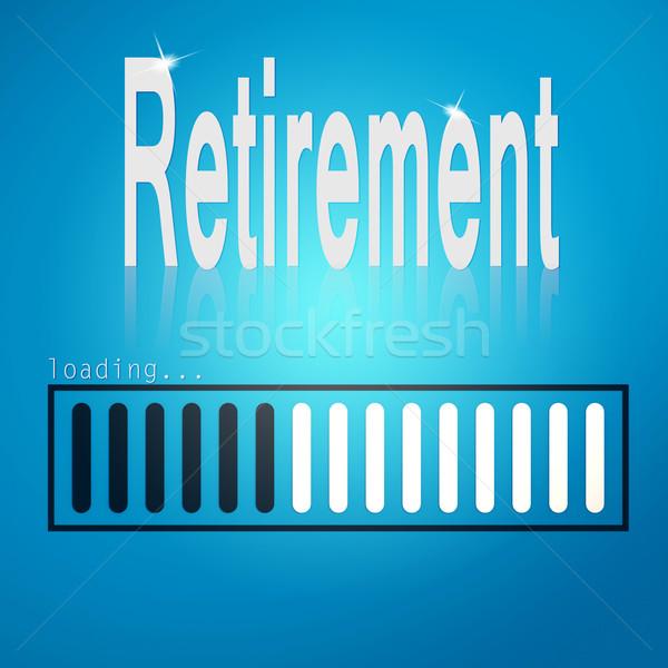 Retirement blue loading bar Stock photo © tang90246