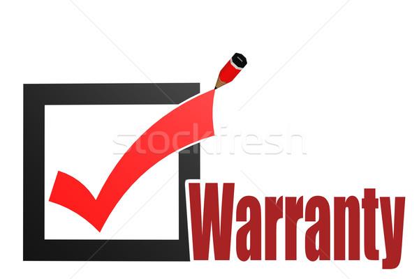 Verificar garantia palavra imagem prestados Foto stock © tang90246