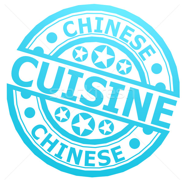 Chinese cuisine stamp Stock photo © tang90246