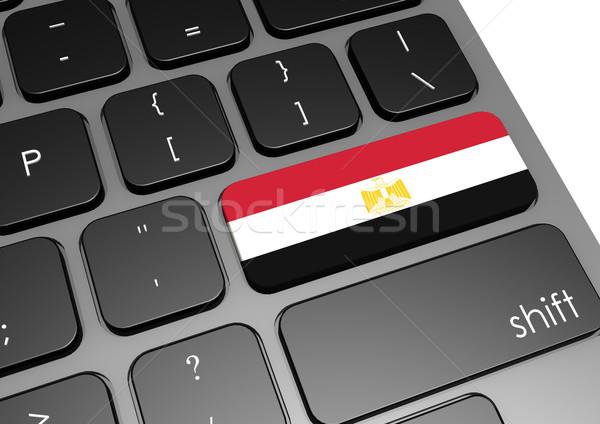 Egito teclado imagem prestados usado Foto stock © tang90246