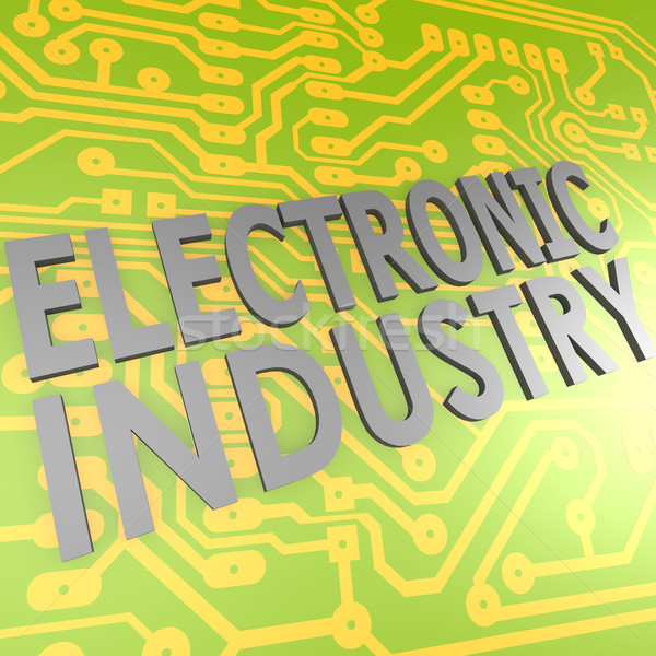 Electronic industry and PCB Stock photo © tang90246