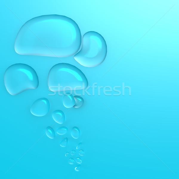 Azul água gotículas textura fundo vida Foto stock © tang90246