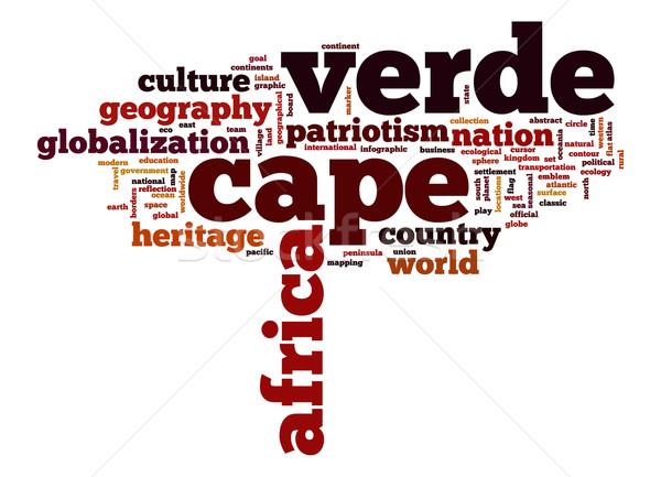 Stock photo: Cape Verde word cloud