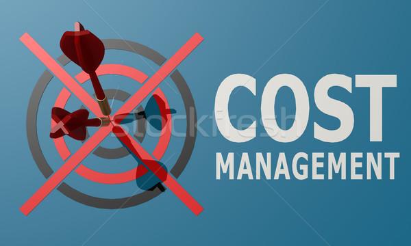 Dart bord bleu coût gestion argent Photo stock © tang90246