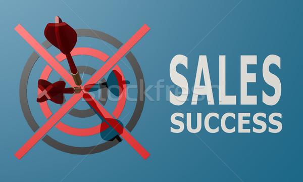 Dart board blue sales success Stock photo © tang90246