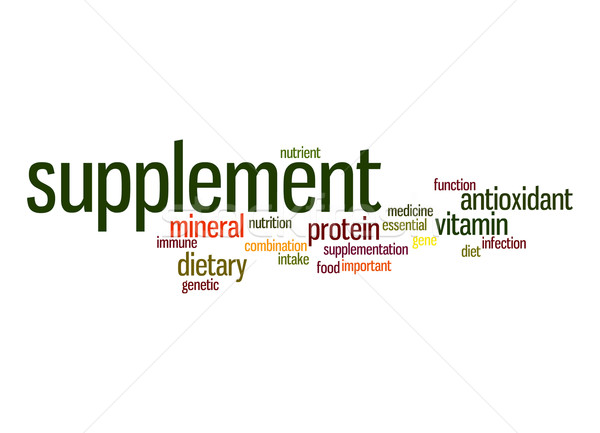 Supplement word cloud Stock photo © tang90246