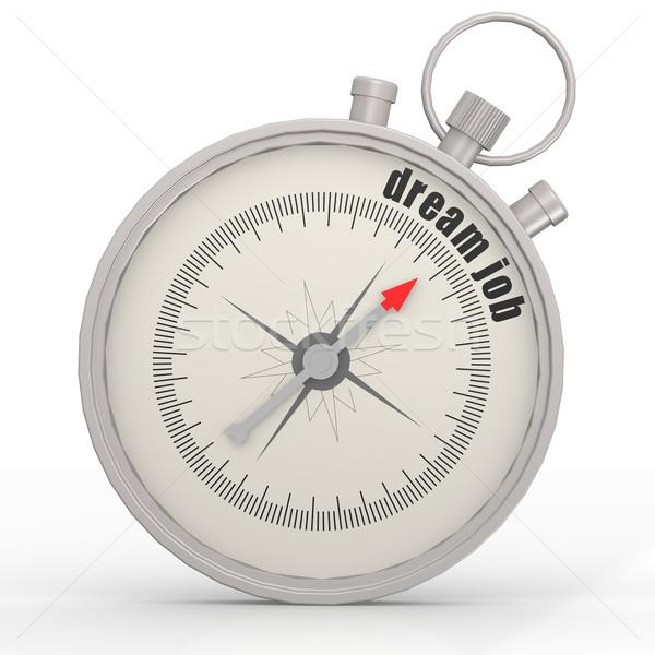 Droom baan kompas afbeelding gerenderd Stockfoto © tang90246