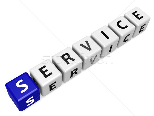Service buzzword blue Stock photo © tang90246