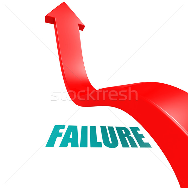 Arrow leap over failure Stock photo © tang90246